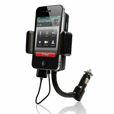 Transmetteur FM chargeur allume-cigare holder iPhone 3 4 radio kit mains libres