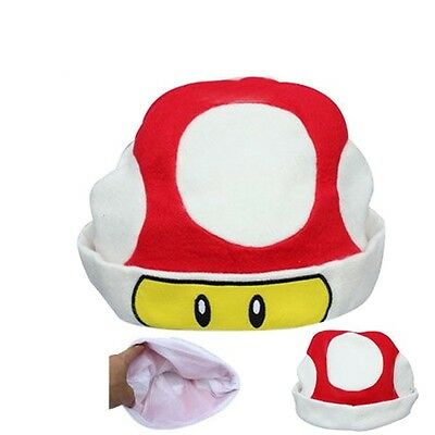 Super Mario Bros Cappello Fungo Rosso Red Toad Cap Hat Cosplay Peluche  Plush  1 84bdc40e16d1