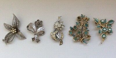 Vintage brooches 1940s 1950s