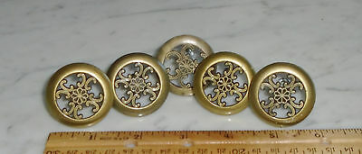 5 Vintage Acme 1330 Taiwan Dresser Cabinet Drawer Pull Knob Handles