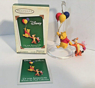 Hallmark Keepsake Miniature Up for Adventure Winnie the Pooh Ornament Set MINT