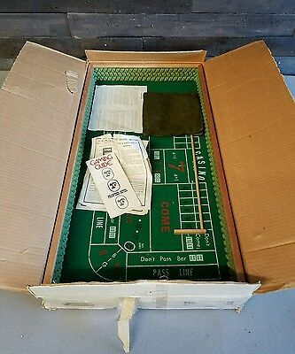 Vintage Shooter Craps Table Complete In Box.