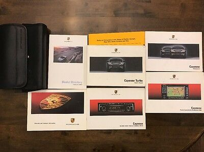 2003 Porsche Cayenne And S And TURBO Owners Manual Complete Set