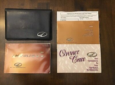 1999 Intrigue Owners Manual Complete Set