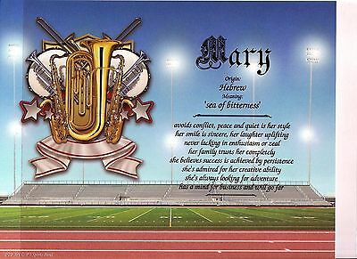 """""""Sports Band"""" Name Meaning Print Personalized (Sports, Band, Music)"""