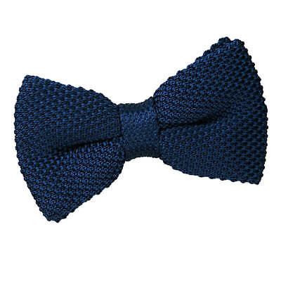 New Dqt Knitted Men's Pre-Tied Bow Tie - Navy Blue