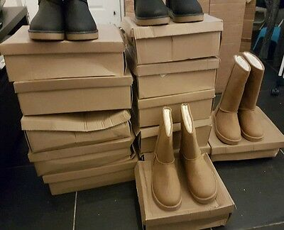 joblot womens fur lined boots 12 pairs wholesale women's shoes winter boots