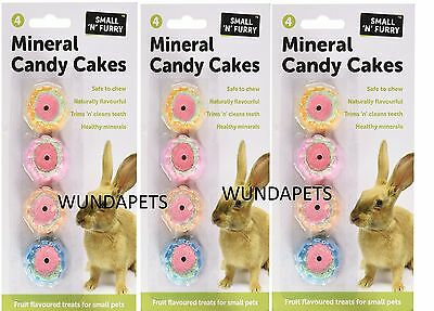 3 X  Small N Furry Mineral Candy Cakes Small Animal Mineral Cage Chew Treat 1936