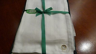 6 vintage Irish linen gents hankies - unused - in good condition