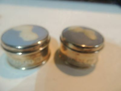 wedgwood sterling silver pill trinket boxes prince charles and diana