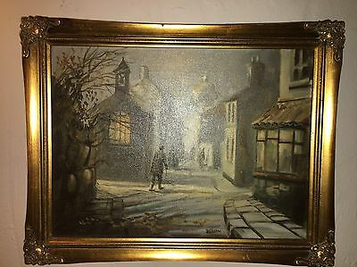 "Rare Delon Original Oil Painting 16"" By 12"""