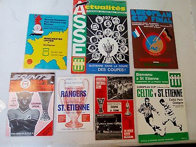 COLLECTION programme coupe d'europe 76 77 asse saint etienne liverpool bayern ..