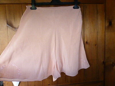 Vintage 1930's/40's Peach Embroidered Silk Cami,French, Tap Knickers, New Boxed