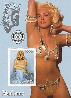 Madonna Pop Star Music 2003 Republique Du Benin Mint Stamp Sheetlet
