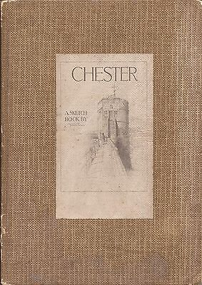 Chester A Sketch Book By Joseph Pike A & C Black Vintage Art Book 1926.