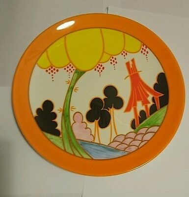 Wedgwood Clarice Cliff Summerhouse Art Deco Design Limited Edition Plate