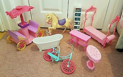 Barbie horse, carriage & furniture bundle