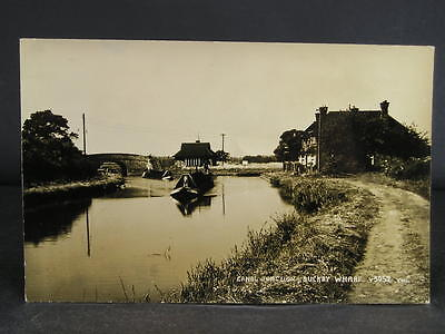 no 112  Canal  Photo Postcard Buckby Wharf Junction