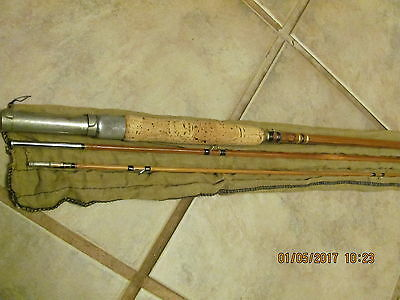 Vintgae Montague CLIPPER, bamboo Fly rod, 3 piece , 9ft, nice condition