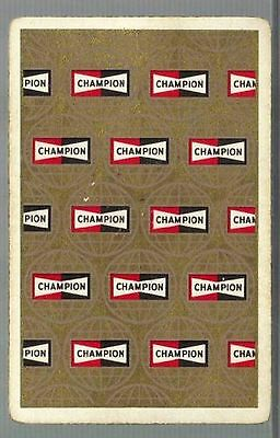 Champion Spark Plugs Promo Single Deck Playing Cards