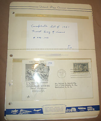 998 -1003 first day cover U.S. 1951 complete