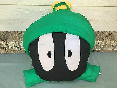"""Vintage Marvin The Martian Large Pillow Play By Play 1994 18""""x16"""" Plush Doll"""