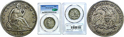 1870-S Seated Liberty Half Dollar PCGS XF-40 CAC