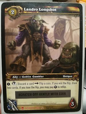 WoW World of Warcraft card Landro Longshot Unscratched - Tabbard of the flame