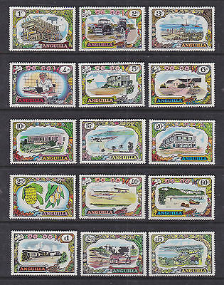 Anguilla 1970 Mint MLH Full Set Definitives Industry Economy Commerce Planes