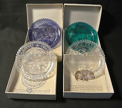 4 Pairpoint Cup Plates - New Bedford Glass Museum