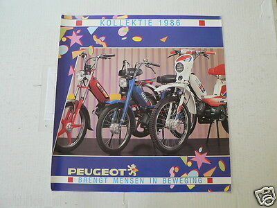 D885 Brochure Peugeot Kollektie 1986 Mopeds Dutch 6 Pages 103 Crx,103 Z,103 Spx