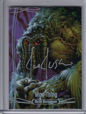 2016 Marvel Masterpieces - Autograph Base Silver #30 Man-Thing #06/10 Auto