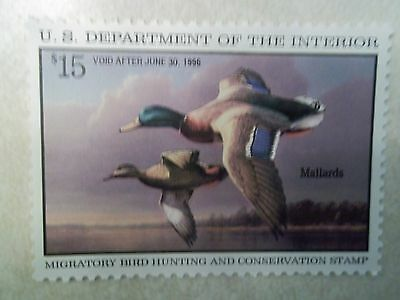 US Federal Duck Stamps Collection Scott# RW62 $15 Mint NH OG