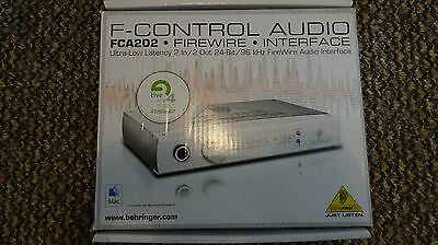 Behringer F-CONTROL AUDIO FCA202 FireWire Audio Interface Boxed FULLY TESTED