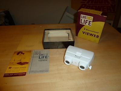 VTG Life Like 3 Dimensional Stereo Slide Viewer Deep-Vue w/ Box, Manual +!