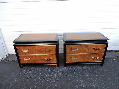Pair of Hollywood Regency Mid Century Nightstands End Tables by Century  7843