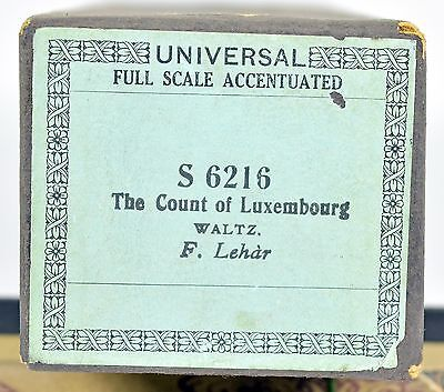 The Count of Luxembourg - F. Lehar Notenrolle Selbstspielendes Klavier Pianola