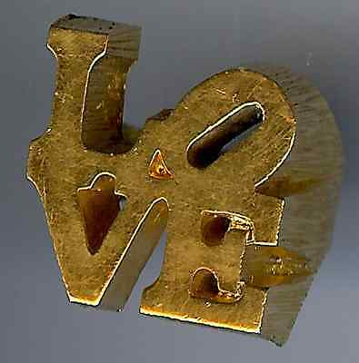 Charles Revson Vintage Robert Indiana Classic 1970's Icon Love Ring Size 4-1/2