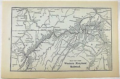Original 1906 Map of the Western Maryland Railway