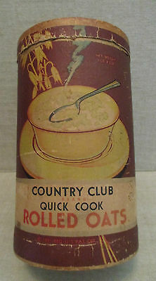Vintage Food Advertising-COUNTRY CLUB OATS-Breakfast Cereal-KROGER GROCERY-STORE