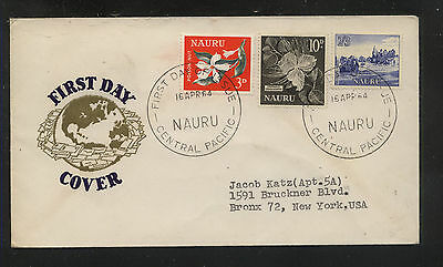 Nauru   first  day  cachet cover  1964        AT0908