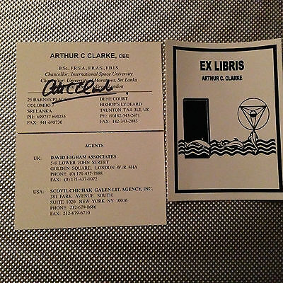 2001 A Space Odyssey Signed Card & Bookplate