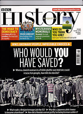 BBC HISTORY Magazine October 2007 - WHO WOULD YOU HAVE SAVED? (Holocaust) Cover