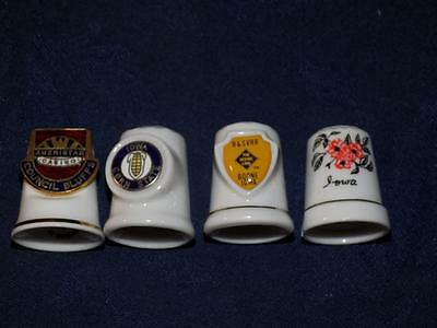 Porcelain Thimbles-Lot of 4 -Collectables-ALL IOWA RELATED