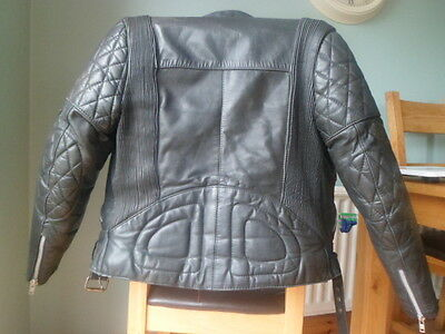 Vintage Black Leather Biker Jacket Size 36 Small-Nice Scuffs-Belstaff-No Label-