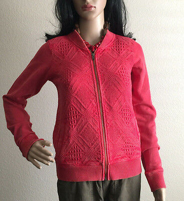 Lucky Brand full zip sweeter red xtra small new XS vintage look