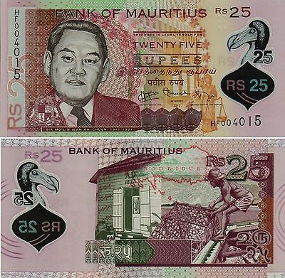 Mauritius, 25 Rupees,  Polymer,  2013,  P-64,   Unc,  Banknote,  Africa