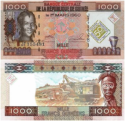 GUINEA, 1000 FRANCS,   2010   P 43,  UNC,  Banknote Africa