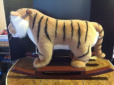 Classic Fao Schwarz Fifth Avenue Plush Rocking Tiger