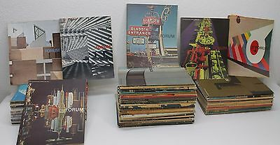 Lot of 64 Vintage Architectural Forum Magazine 1964 - 1973 Architecture GUC